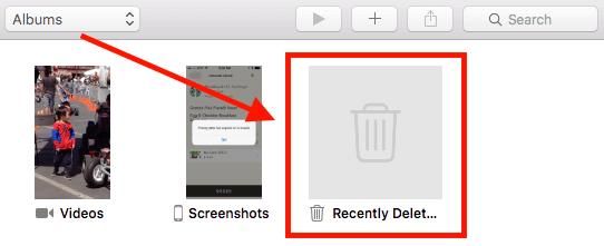 Carpeta eliminada recientemente de iOS