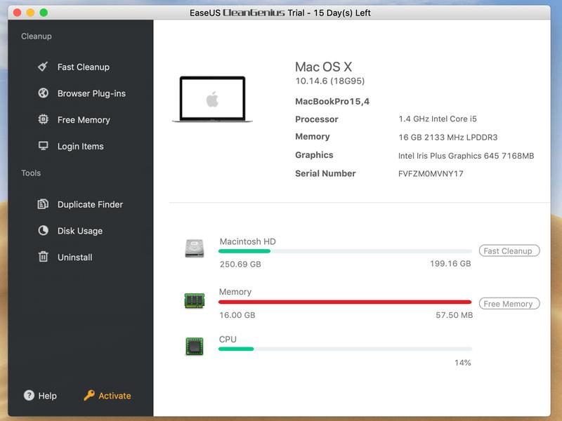 EaseUS CleanGenius para Mac